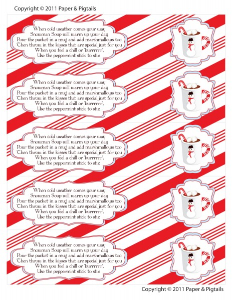 snowman soup free holiday printable