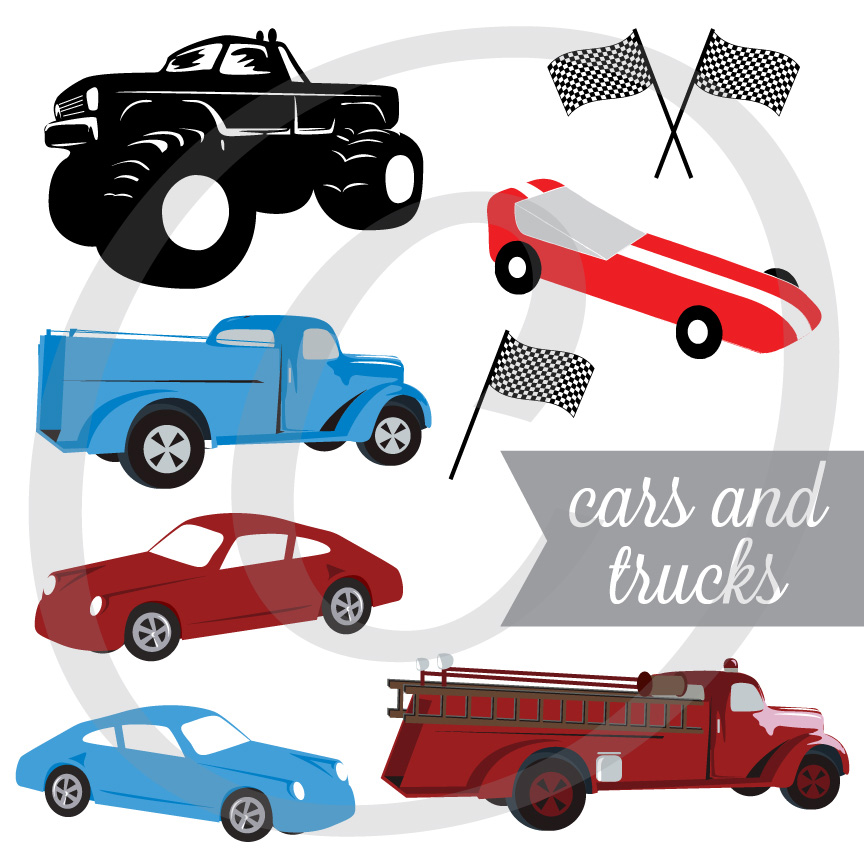 Cars & Trucks Graphic Set