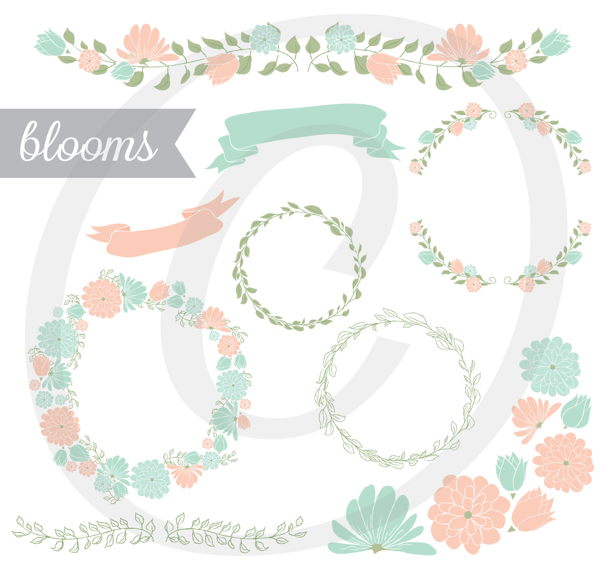 Blooms - Floral Element Set