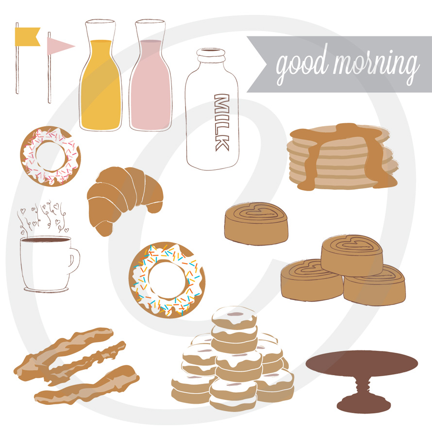 Good Morning - Breakfast / Brunch Graphics Set