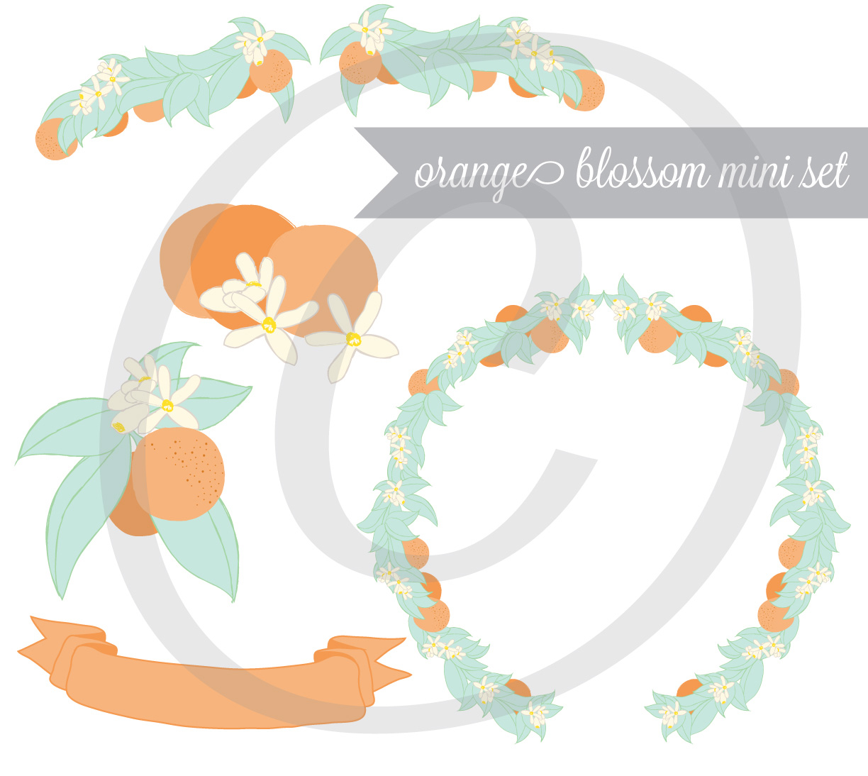Orange Blossom Mini Set