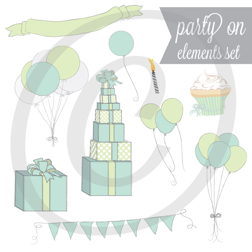 Party On - Graphic Element Set