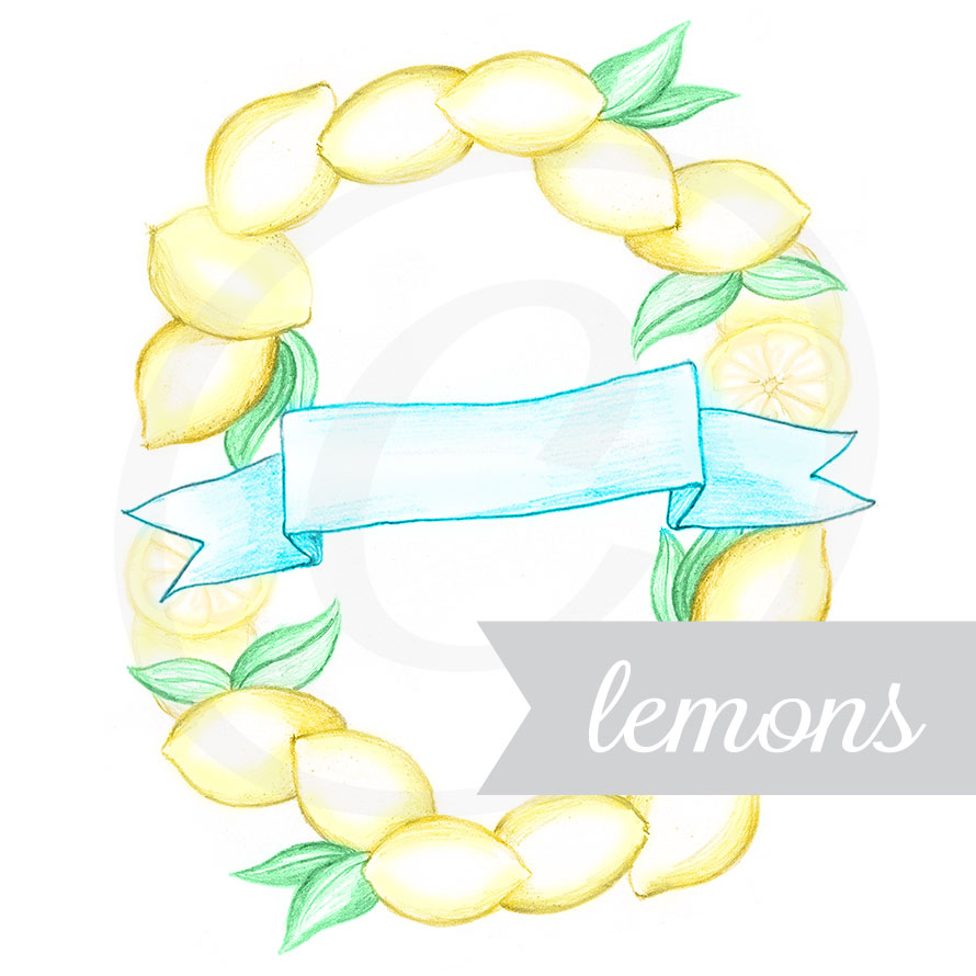 Lemons Hand Illustrated Graphic