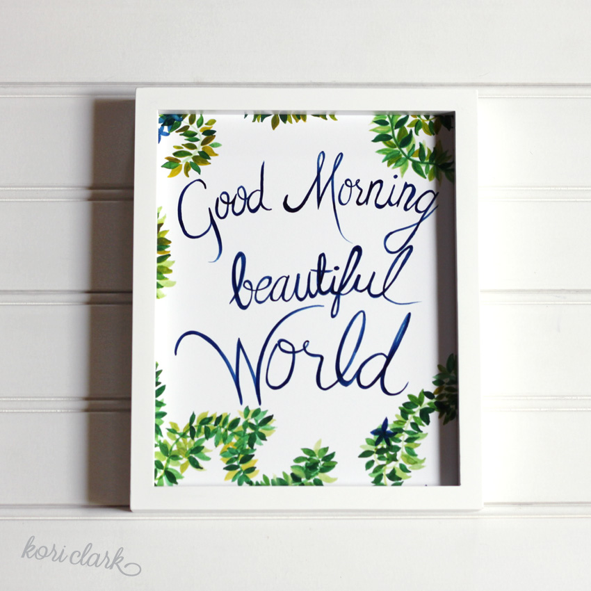 Good Morning Watercolor Print