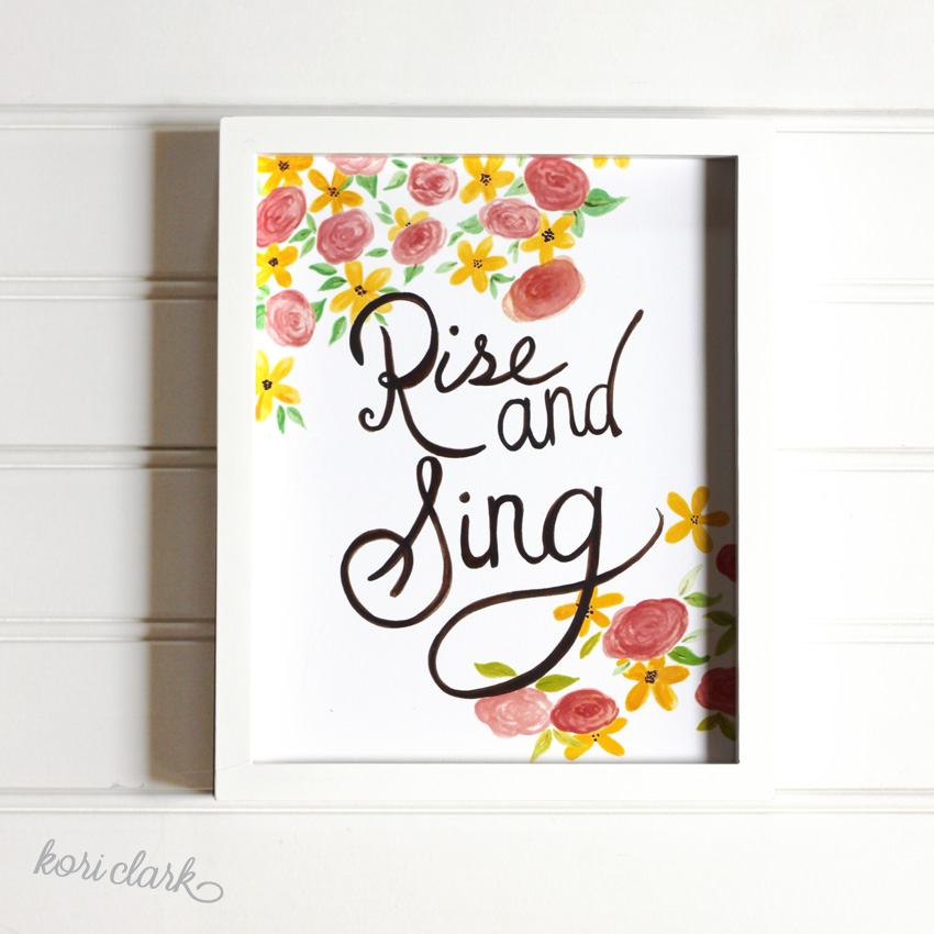 Rise & Sing Watercolor Print