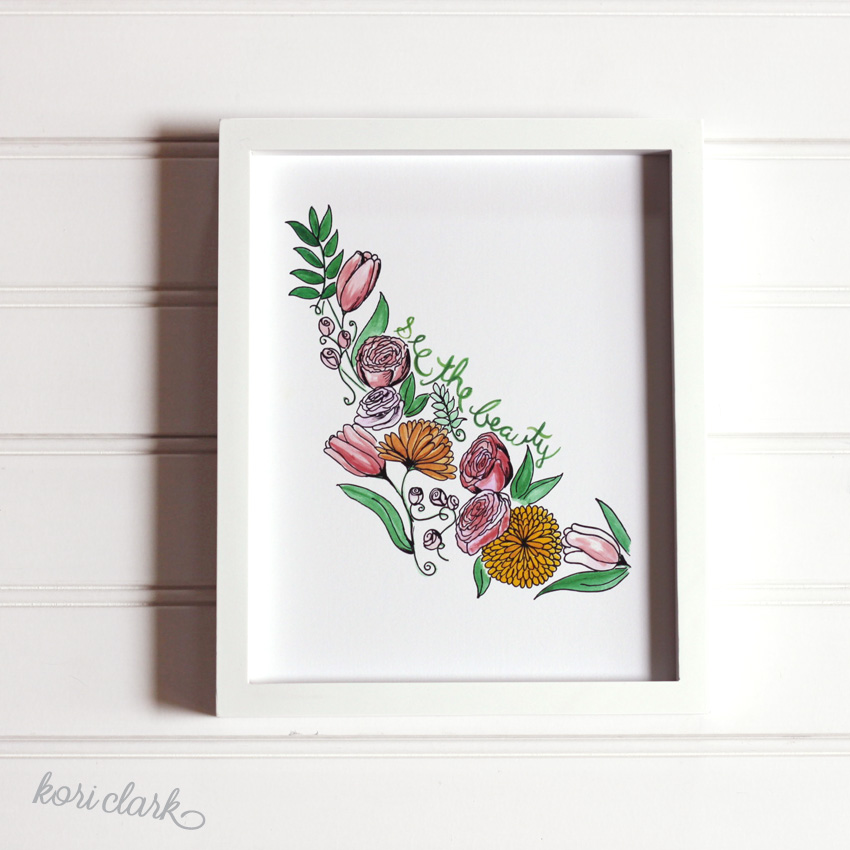 See The Beauty Watercolor Print