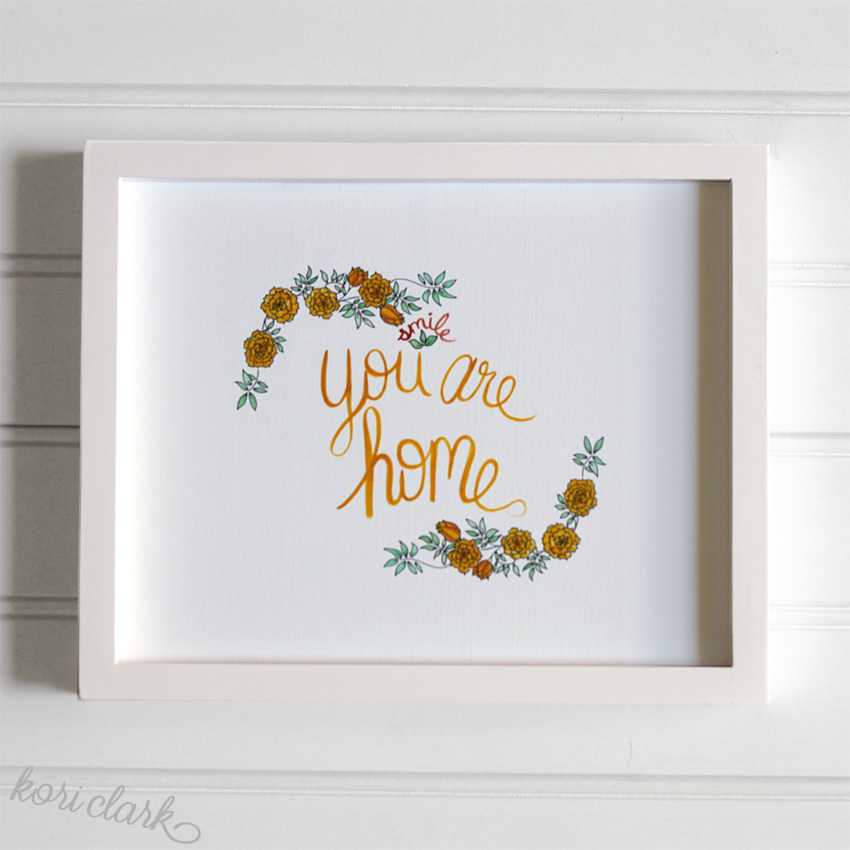You Are Home Watercolor Print