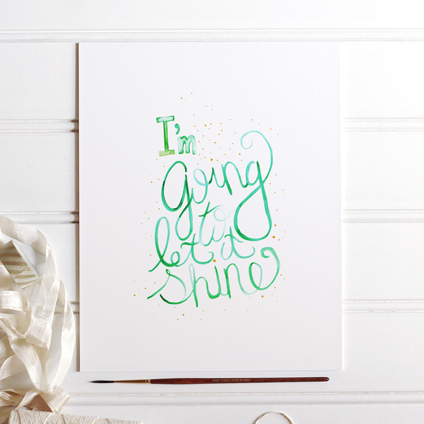 Let It Shine Watercolor Print