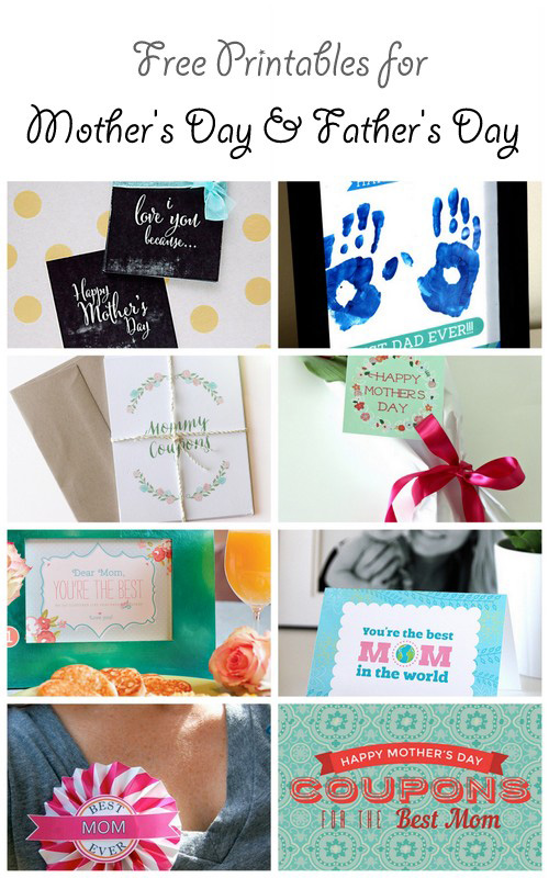 Free Printables for Mother's Day and for Father's Day + a blog hop