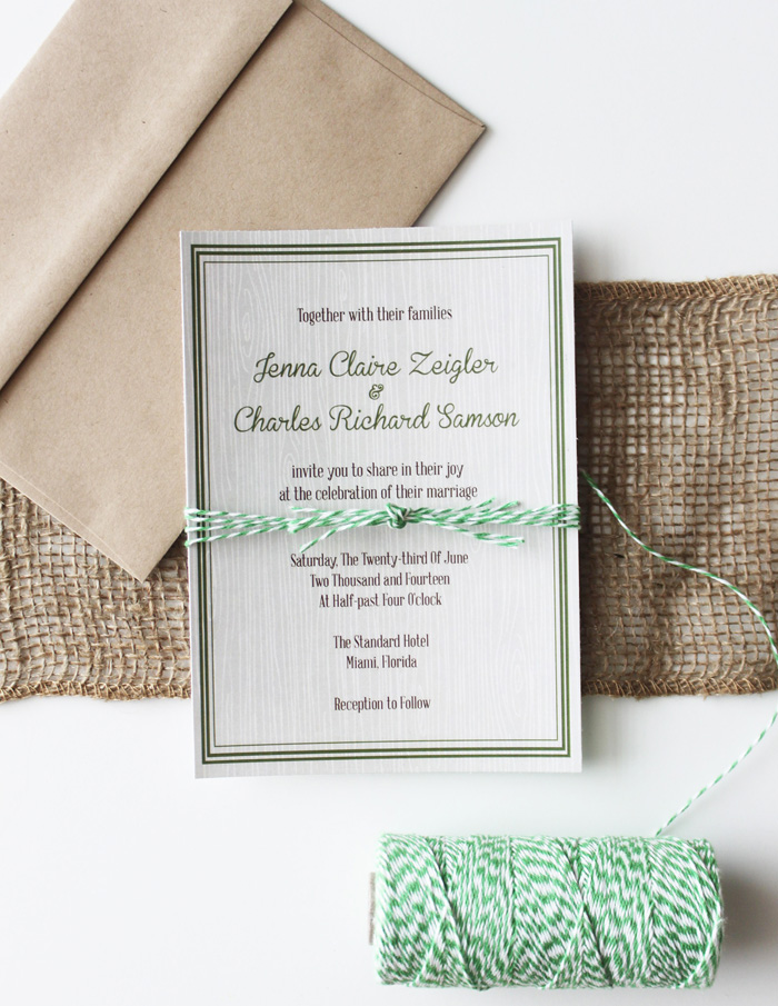 Autumn WoodGrain Wedding Invite B