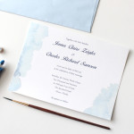 Summer Watercolor Wedding Invite B