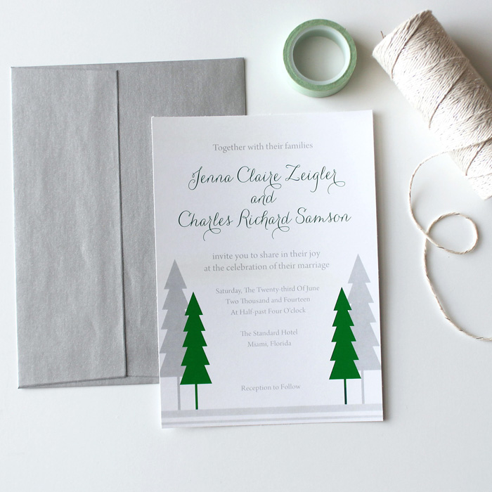 Winter Tree Wedding Invite B