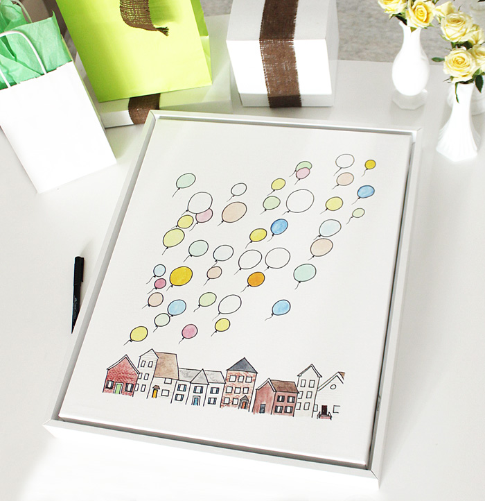Shutterfly Baby Shower Guest Book Art