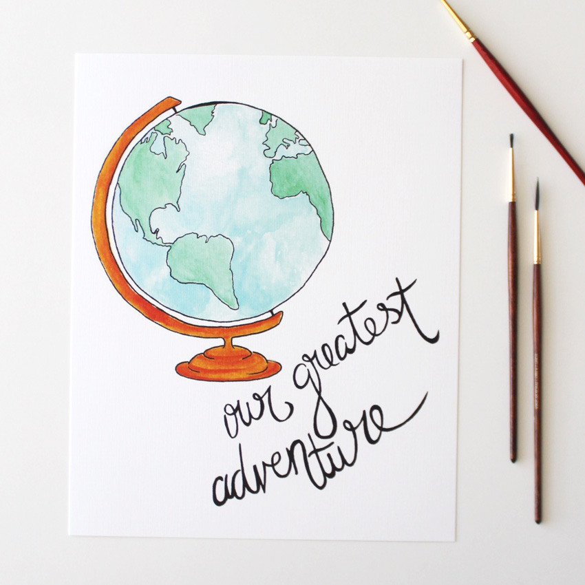Greatest Adventure Watercolor Print