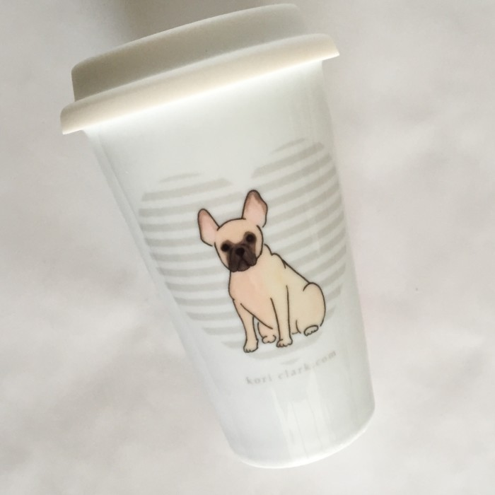 French Bulldog Travel Mug - Studio Sale!