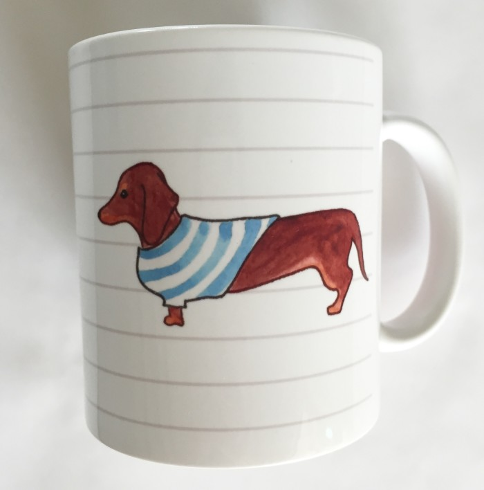 Red/Brown Dachshund Mug - Studio Sale!