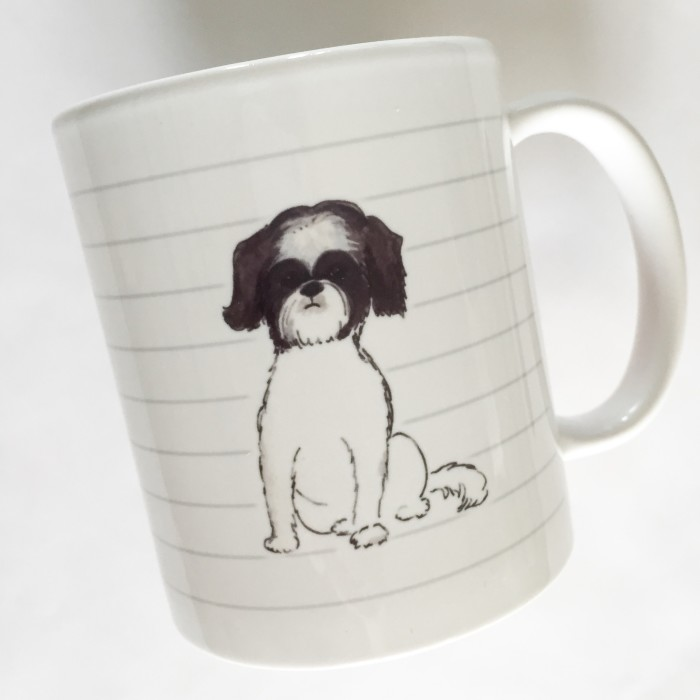 Grey/White Shih Tzu Mug - Studio Sale!