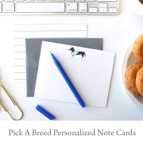 Pup Flat Note Cards - You Pick the Breed