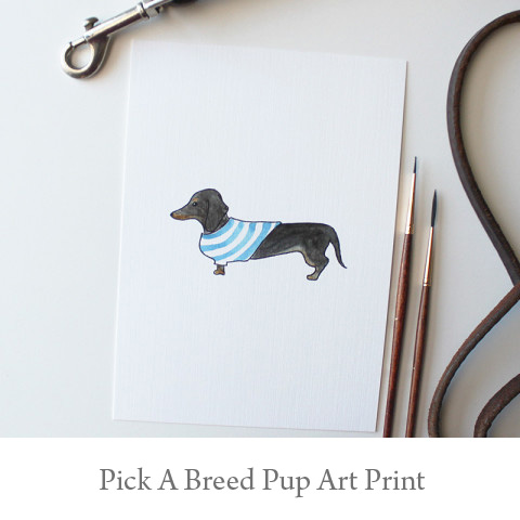 You Pick a Breed Pup Art Print