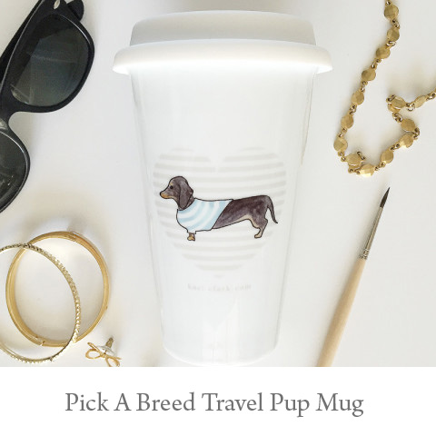 Pup Thermal Porcelain Travel Mugs - You Pick the Breed