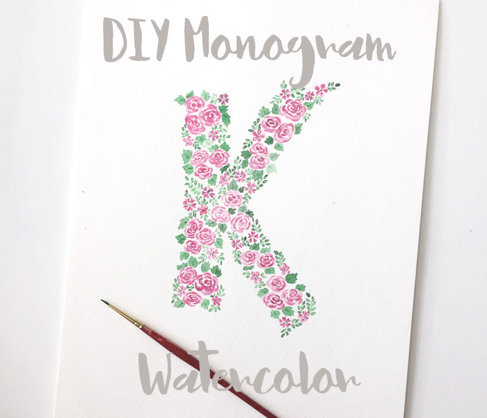 DIY Monogram Watercolor –