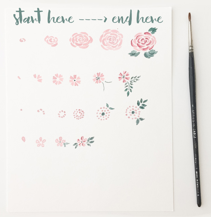 Step By Step Watercolor Florals here to here