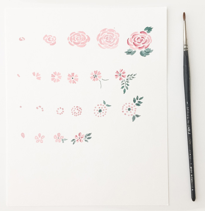 Step by Step Watercolor Florals