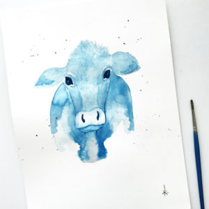 Custom Animal Watercolor