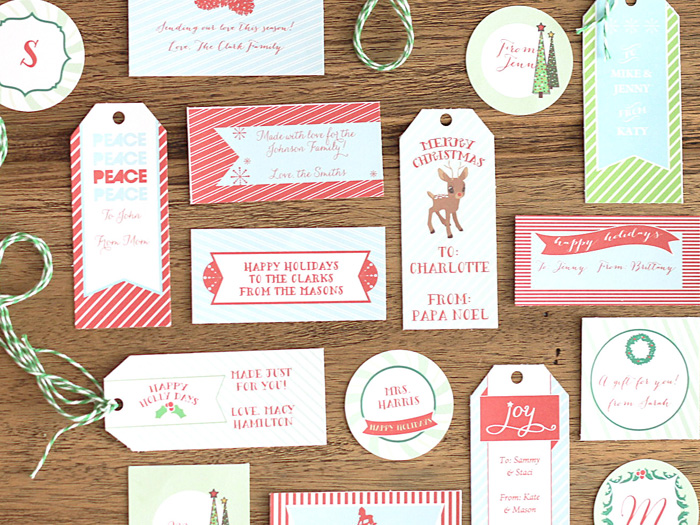 Holiday Gift Tags for DIY Network