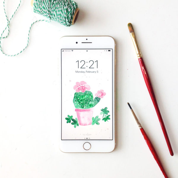February Phone Wallpapers! {Freebie}
